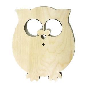 ロシア 露 クラフトプレミア Craft Premier 木製素材 ふくろう フクロウ ロシア産白樺(しらかば)使用 FN032  正規輸入品|ccpopo