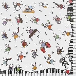 作品販売可 FRONTIA フロンティア ペーパーナプキン 音楽隊 バラ売り2枚1セット デコパージュ ドリパージュ|ccpopo