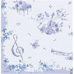 作品販売可 FRONTIA フロンティア ペーパーナプキン ブルーミュージック 音符 楽器 天使 バラ売り2枚1セット デコパージュ ドリパージュ|ccpopo
