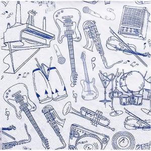 作品販売可 FRONTIA フロンティア ペーパーナプキン 楽器 音楽 音符 バラ売り2枚1セット デコパージュ ドリパージュ|ccpopo
