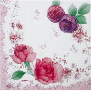 作品販売可 FRONTIA フロンティア ペーパーナプキン パープルローズ バラ売り2枚1セット デコパージュ ドリパージュ|ccpopo
