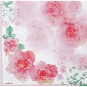作品販売可 FRONTIA フロンティア ペーパーナプキン ピンクのバラ バラ売り2枚1セット デコパージュ ドリパージュ|ccpopo