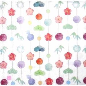 作品販売可 FRONTIA フロンティア ペーパーナプキン 吊るし飾り バラ売り2枚1セット デコパージュ ドリパージュ 和柄 和風 お正月|ccpopo