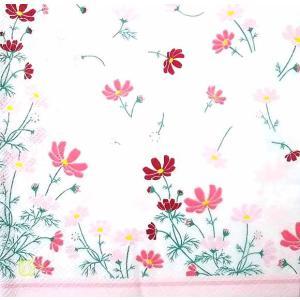 作品販売可 FRONTIA フロンティア ペーパーナプキン コスモス 花柄 フラワー バラ売り2枚1セット デコパージュ ドリパージュ|ccpopo