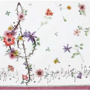作品販売可 FRONTIA フロンティア ペーパーナプキン ミュージックフラワー バラ売り2枚1セット デコパージュ ドリパージュ|ccpopo