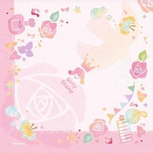 作品販売可 FRONTIA フロンティア 和洋柄ペーパーナプキン はんこ ピンクローズ バラ売り2枚1セット デコパージュ ドリパージュ|ccpopo