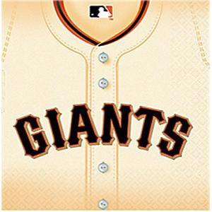 2枚1セット ジャイアンツ GIANTS 野球 MLB 大リーグ アメリカ MADE IN USA ペーパーナプキン 紙ナフキン 2枚重ね デコパージュ|ccpopo