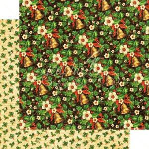 廃版在庫限り グラフィック45 Graphic 45 MADE IN USA アシッドフリー クリスマス ベル Bells and Bows 1枚売り 両面柄ペーパー 12