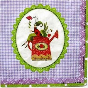 1枚バラ売りペーパーナプキン GratzVerlag グラーツ ドイツ 私の小さな庭 Mon petit Jardin 28015 デコパージュ ドリパージュ|ccpopo
