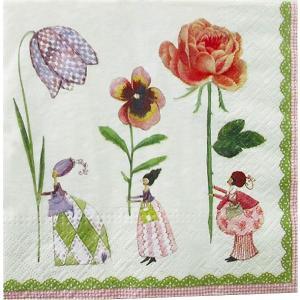 1枚バラ売りペーパーナプキン GratzVerlag グラーツ ドイツ Silke Leffler Blumenfrauen 花 28022 デコパージュ ドリパージュ|ccpopo