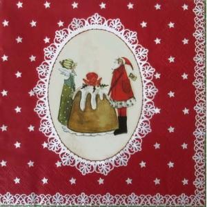 1枚バラ売りペーパーナプキン GratzVerlag グラーツ ドイツ 素敵なクリスマス Suse Weihnachten 28108 デコパージュ ドリパージュ ccpopo