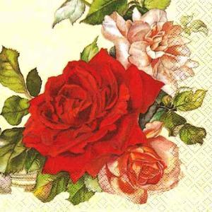 HOME FASHION ドイツ ペーパーナプキン Rose Wreath 210429 2枚1セット デコパージュ ドリパージュ ccpopo