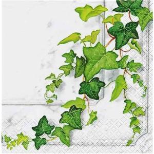 HOME FASHION ドイツ ペーパーナプキン Efeuranke Ivy 2枚1セット 210739 デコパージュ ドリパージュ|ccpopo