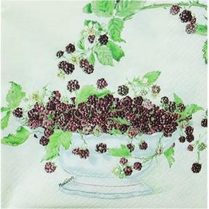 HOME FASHION ペーパーナプキン ブラックベリー Black Berries 211203 バラ売り2枚1セット デコパージュ ドリパージュ|ccpopo