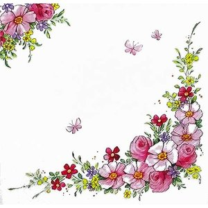 かわいいペーパーナプキン ドイツ製 Cute Flowers 2枚 211350