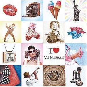 HOME FASHION ドイツ ペーパーナプキン I Love Vintage 211447 2枚 デコパージュ ドリパージュ|ccpopo