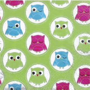 Home Fashion ドイツ ペーパーナプキン ふくろう フクロウ Owls 211451 バラ売り2枚1セット デコパージュ ccpopo