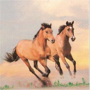 かわいいペーパーナプキン ドイツ製 Wild Horses 211511 2枚 デコパージュ ccpopo