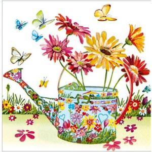 かわいいペーパーナプキン ドイツ製 Flowery Can 2枚 211555