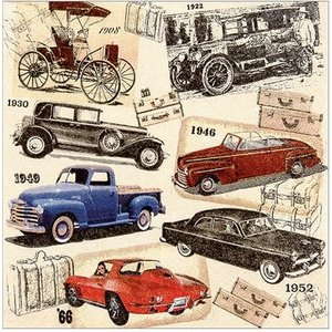 かわいいペーパーナプキン Classic Cars クラシックカー 211625 デコパージュ ドリパージュ|ccpopo