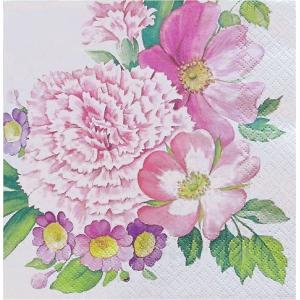 Home Fashion ドイツ ペーパーナプキン カーネーション Carnation Flower 211719バラ売り2枚1セット デコパージュ ドリパージュ|ccpopo