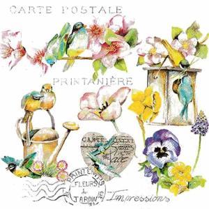 Home Fashion ドイツ ペーパーナプキン Garden Flair 211720 バラ売り2枚1セット デコパージュ ドリパージュ|ccpopo