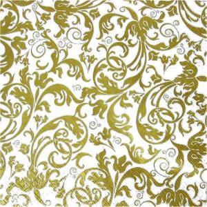 HOME FASHION ペーパーナプキン アラベスク 唐草模様 ゴールド 金 Arabesque qold 211731 バラ売り2枚1セット デコパージュ ドリパージュ|ccpopo