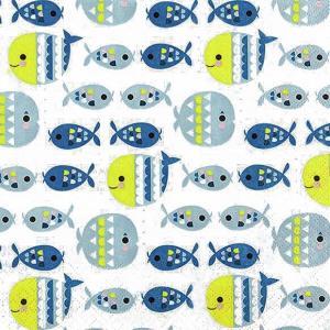 HOME FASHION ペーパーナプキン 池の魚 Fish Pond 211802 バラ売り2枚1セット デコパージュ ドリパージュ|ccpopo