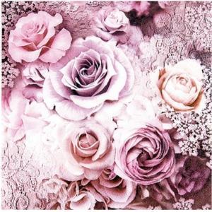 1枚バラ売り25cmペーパーナプキン HOME FASHION ドイツ バラ Evelien 111614 紙コースター デコパージュ ドリパージュ|ccpopo