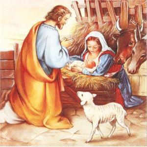絵画的 ペーパーナプキン ドイツ製 Jesus is born 2枚 611324 デコパージュ ドリパージュ ccpopo