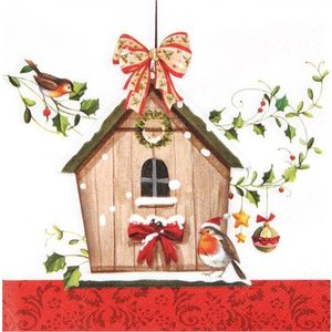 Home Fashion ドイツ  Winter Bird House 611347 2枚  デコパージュ ccpopo