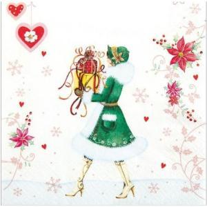 かわいいペーパーナプキン ドイツ製 ティファニー Tiffany 2枚 611410 デコパージュ ドリパージュ|ccpopo