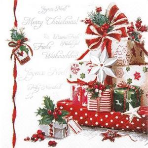 かわいいペーパーナプキン ドイツ製 Christmas Presents 611504 2枚 デコパージュ ccpopo