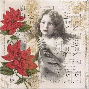 かわいいペーパーナプキン ドイツ製 Heavenly Music 611535 2枚 デコパージュ ドリパージュ|ccpopo