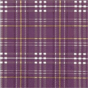 Home Fashion ドイツ ペーパーナプキン Scottish Check berry 611538 2枚1セット バラ売り デコパージュ ドリパージュ|ccpopo