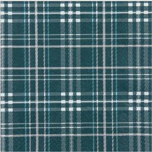 Home Fashion ドイツ ペーパーナプキン Scottish Check petrol 611547 2枚1セット バラ売り デコパージュ ドリパージュ|ccpopo