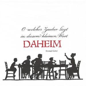 1枚バラ売りペーパーナプキン IHR ドイツ 家族団らん DAHEIM white red 522691 デコパージュ ドリパージュ|ccpopo