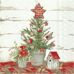 1枚バラ売りペーパーナプキン IHR ドイツ COTTAGE CHRISTMAS TREE コテージのクリスマスツリー 754600 デコパージュ ドリパージュ|ccpopo