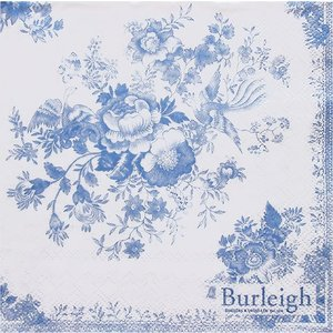 IHR ドイツ ペーパーナプキン アジアンな花園を舞う青いキジ ASIATIC PHEASANT blue バラ売り2枚1セット L-533240 デコパージュ ドリパージュ|ccpopo