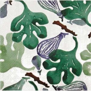 Emma Bridgewater イギリス ペーパーナプキン FIGS green ピンク色 バラ売り2枚1セット L-607420 デコパージュ ドリパージュ|ccpopo