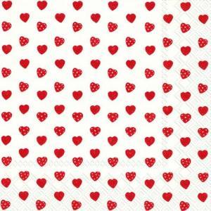 IHR ドイツ ペーパーナプキン リトルスイートハート レッド 赤 MY LITTLE SWEETHEART red バラ売り2枚1セット L-726710 デコパージュ ドリパージュ|ccpopo