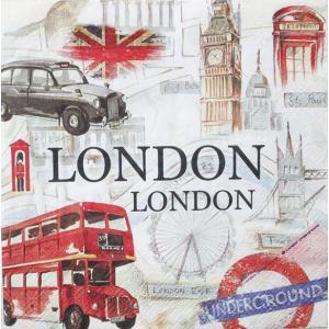 IHR ドイツ ペーパーナプキン ロンドン LONDON SIGHTSEEING バラ売り2枚1セット L-733500 デコパージュ ドリパージュ|ccpopo