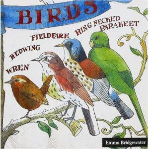 Emma Bridgewater イギリス ペーパーナプキン ガーデン 鳥 GARDEN BIRDS バラ売り2枚1セット L-742000 デコパージュ ドリパージュ|ccpopo
