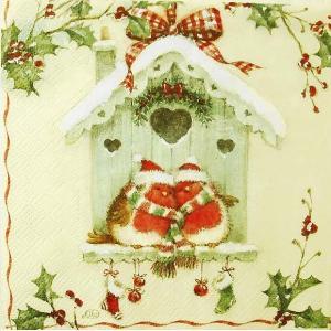 IHR ドイツ ペーパーナプキン ドイツ バードハウス 小鳥 BIRD HOUSE バラ売り2枚1セット L-791960 デコパージュ ドリパージュ|ccpopo