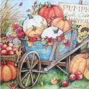 IHR ドイツ ペーパーナプキン ドイツ カボチャの収穫 かぼちゃ パンプキン PUMPKIN CROP バラ売り2枚1セット L-793800 デコパージュ ドリパージュ|ccpopo