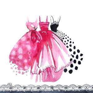 IHR ドイツ ペーパーナプキン ドイツ ドレス IN THE PINK バラ売り2枚1セット L-807800 デコパージュ ドリパージュ|ccpopo