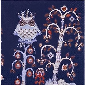 iittala イッタラ フィンランド ペーパーナプキン ランチサイズ TAIKA blue バラ売り2枚1セット デコパージュ ドリパージュ ccpopo