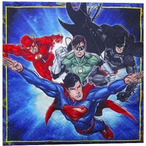 1枚バラ売りペーパーナプキン ジャスティス・リーグ Adventure Filled Justice League 紙ナフキン デコパージュ  511585|ccpopo