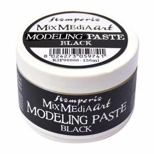 スタンペリア Stamperia モデリングペースト 黒 Modeling Paste 150 ml Black K3P38B|ccpopo