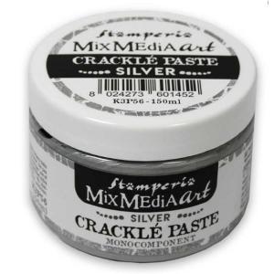 スタンペリア Stamperia シルバークラックルペースト 銀 150 ml Silver Crackle Paste monocomponent K3P56 アンティーク調のひび割れを演出|ccpopo